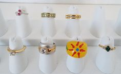 7 Piece Estate Lot Vintage Modern Fashion Rings Size 5 Gold Silver Tone Metal  #Unbranded