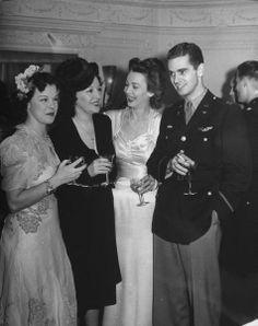 Actress Carole Landis (2R) and new husband, Capt. Thomas C. Wallace 1943