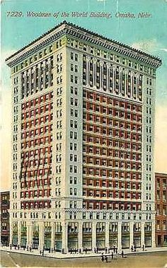 Omaha Nebraska NE 1912 Woodmen of the World Building Antique Vintage Postcard