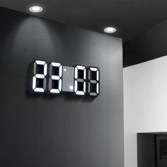 """LED Clock Alarm Watch USB Charge Electronic Digital Clocks Wall Horloge Dijital Saat Home Decoration Office Table Desk Clock"" Digital Table Clock, Digital Clocks, Digital Wall, Large Digital Clock, Led Alarm Clock, Led Wall Clock, Led Wall Lamp, Desktop Clock, Desktop Decor"
