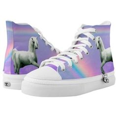 Unicorn and Rainbow High-Top Sneakers