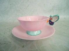 Antique Pink Paragon Teacup and Saucer with por SwirlingOrange11, $134.00