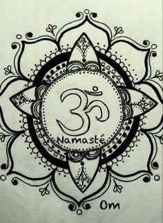 Namaste - Mandala tattoo idea
