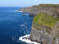 O'Brien's Tower, Ireland.  The cliffs of Moher