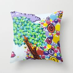 tree of love Throw Pillow by guidtati - $20.00