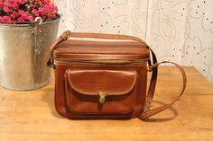 Vintage Leather Camera Bag via Etsy