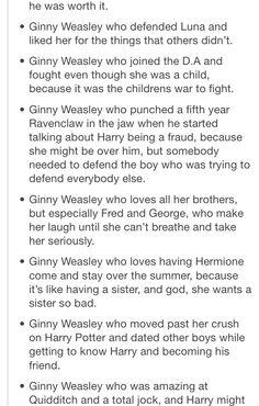 Ginny Weasley Pt 2