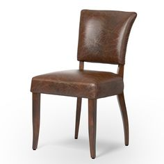 Description Simple yet seductive, the Four Hands Mimi Dining Chair features curvaceous designs upholstered in finest hand-aged top-grain leather. The buttery, B