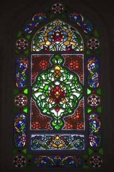 Picture of Üsküdar (Turkey): Colourful stained glass window inside charming Şemsi Paşa mosque