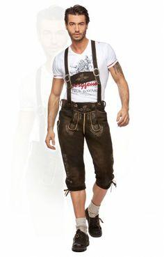 German leather trousers knee length h-beam Louis moor