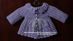 Passo a passo Casaquinho em Crochê tamanho 2 a 4 meses feito pela Professora Simone http://lifebabysapatinhos.blogspot.com.br/