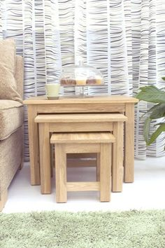 this mobel oak nest of 3 coffee tables is a part of mobel and a great