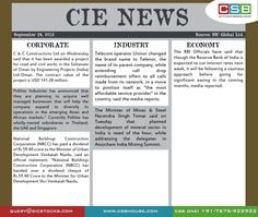CIE News (Sept 24): •Private sector lender City Union Bank Ltd on Wednesday said that it has opened its 485th branch at Jodhpur in Rajasthan on September 23, 2015. The bank branch is located Jodhpur, Rajasthan. •The RBI Officials have said that though the Reserve Bank of India is expected to cut interest rates next week, it will be following a cautious approach before going for significant easing in the coming months, media reported.