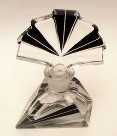 Art is not a luxury, it is a necessity.   1920s Art Deco Style Glass Perfume Bottle. (via...