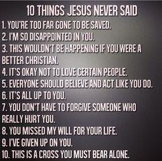 Jesus never said this