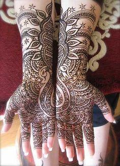 Indian bridal mehndi designs.