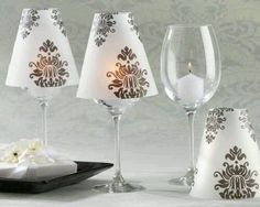 bottle cutters glass cutters at hobby lobby | And inside the vase even have a frosted bottle with the table number ...