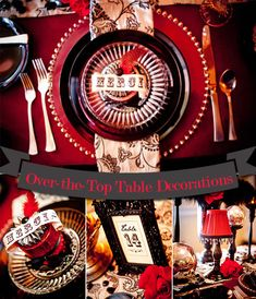Moulin Rouge Styled Shoot. Table Decorations by Jessie Baca Weddings and Events. #weddingthemes