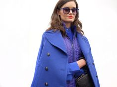 Cobalt blue is making a comeback this fall and winter, according to Banana Republic