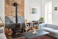 A couple reconfigure a dilapidated Brooklyn brownstone and prepare it for the 21st century.