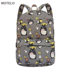 Totoro Printing Canvas Backpack School Bags //Price: $26.49 & FREE Shipping //   #pokemon #anime