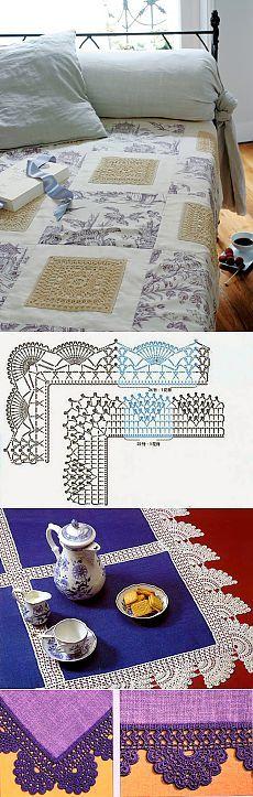 Красивое рукоделие для дома, сочетание ткани и вязания крючком — Рукоделие