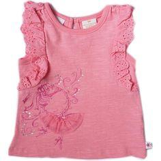 """Truly Scrumptious Girls Pink Ballerina Flutter Sleeve T Shirt - Heidi Klum - Babies """"R"""" Us"""