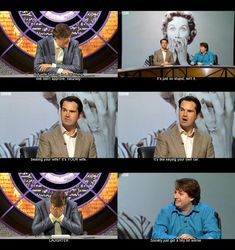 From a show called QI. So bad but Stephen Fry's reaction made me crack up.