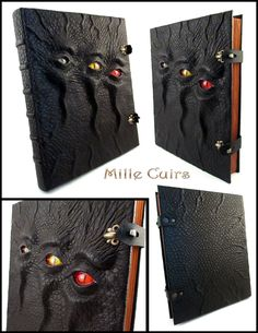 Custom Triple-eyed Necronomicon by MilleCuirs.deviantart.com on @deviantART