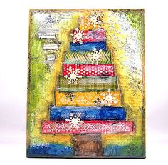 MUST DO!!  Mixed Media painting & tutorial by Jill Foster