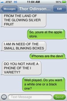 texts from thor | Tumblr