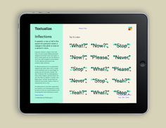 Textualize by Kevin Chao, via Behance