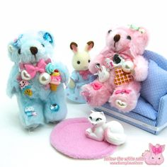 Kawaii decoden teddy bear charms ^^ www.bunnykawaii.com