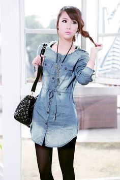 Jeans Denim Shirts Selection for Ladies | Other Ideas