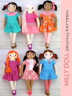 MILLY - 18 inch Doll Sewing Pattern - Fabric Doll Pattern (T1204)