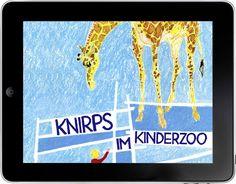 Knirps im Kinderzoo  Von Max Bolliger und Klaus Brunner, gesprochen von Christoph Hürsch. Eine Bilderbuch-App für iOs- und Android-Tablets. ©2016 by e-publish.ch