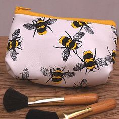 Birds And Bees Soft Leather Make Up Bag (site has other sizes and colors too)