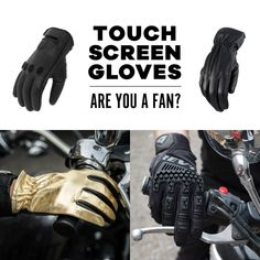 Do you use your phone with your gloves on or do you usually just take them off anyways? Must have glove feature or marketing hype? Useful or no? Let us know how you feel about this increasingly standard motorcycle glove feature #motogloves #touchscreenglove Motorcycle Riding Gloves, Roland Sands, Lifestyle Shop, Toronto Canada, How Are You Feeling, Marketing, Phone, Telephone, Mobile Phones