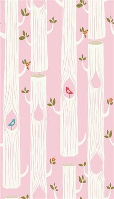 Tree Stripes Pink - Circa 52 Organic Cotton KNIT by Birch Fabrics | Simplifi Fabric