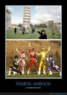 funny pic of people posing with leaning tower of pisa look like power rangers Really Funny Memes, Stupid Funny Memes, Funny Relatable Memes, Funny Posts, Hilarious, Fun Funny, Funny Images, Best Funny Pictures, Power Rangers Memes