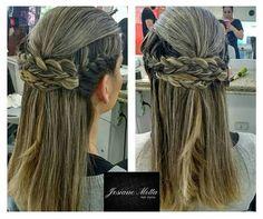 Penteado solto #tranças