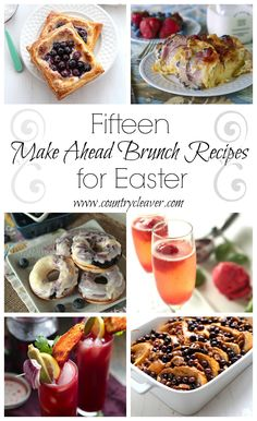 Brunch is my favorite meal. Not that I brunch very often, but when I do – it's the best. It's the best of both breakfast, and lunch, of sweet pastries and savory snacks. You can't lose when you win at brunch! With Easter coming up this weekend, these are my 15 favorite treats for brunch …