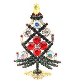 Unique Czech Rhinestone Christmas Tree (Decoration) - Design by Jana - www.jaul.biz