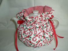 Candy Canes 6 Cup Christmas Tea Pot Cozy C01