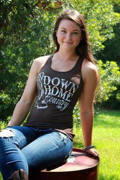 Down Home Country Tank Top Brown  Sale 14.00 by Sweetsouthernbrand