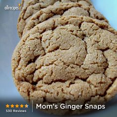 "Mom's Ginger Snaps | ""These are the best ever! So soft and chewy! I have made this recipe about 10 times now."""