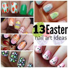 13 Easter Nail Art Ideas. I LOVE the bunnies!