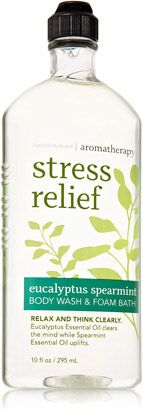 Eucalyptus Spearmint Body Wash & Foam Bath - Aromatherapy - Bath & Body Works Liked Tranquil Mint and Lemongrass Cardamom better but hard to find either of them