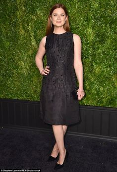 Ginny Weasley!Harry Potter alum Bonnie Wright - whose film Phone Calls premiered at Tribeca - opted for not-so-basic LBD and matching pumps