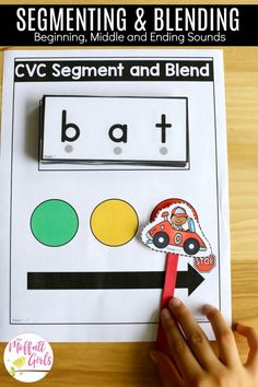 Segment and Blend CVC Words- Teach letter recognition and letter formation and move to reading with this fun phonics activity! Fun for Preschool and Kindergarten! Fun Phonics Activities, Fun Activities For Preschoolers, Kindergarten Literacy, Alphabet Activities, Literacy Strategies, Teaching The Alphabet, Teaching Phonics, Teaching Reading, Learning